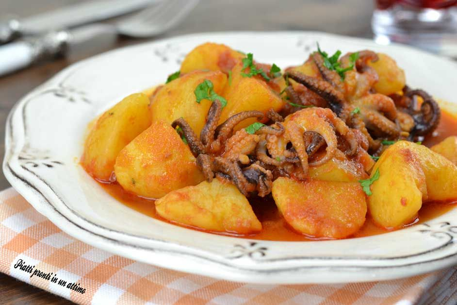 Photo of Stewed baby octopus with potatoes DISHES READY IN A JUST