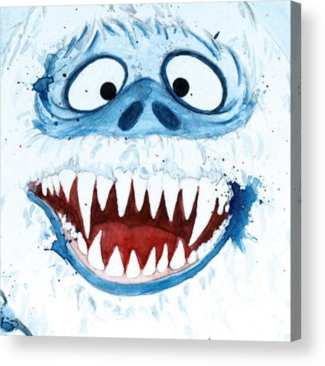 Abominable Snowman Acrylic Print by Tess Kamban (With ...