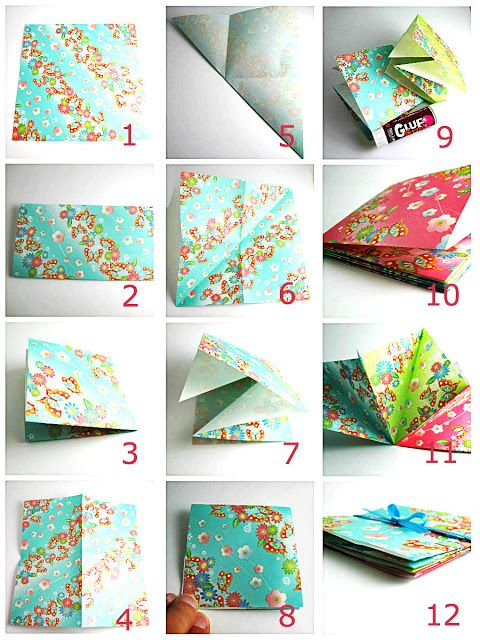 Free DIY Craft Tutorial Folded Origami Surprise Fly Away Paper Book For Kids And Adults