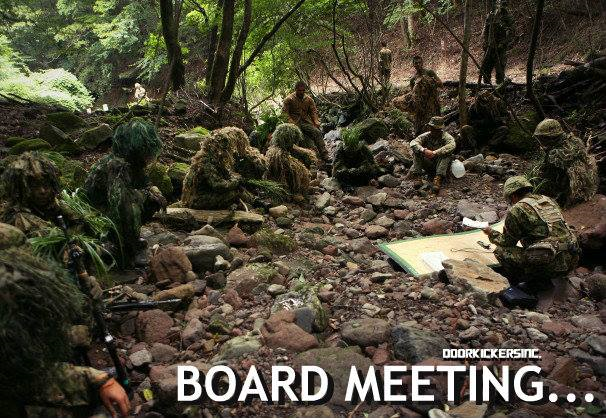 """CAPTION THIS!:  'Snipers, Inc.'......""""Our board meetings are a little different...''"""