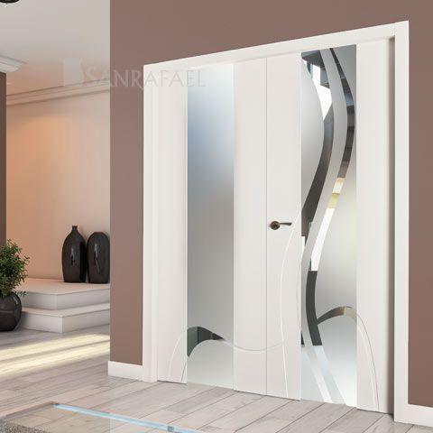 Que os parece esta vidriera en blanco puertas lacadas for Puertas blancas dobles