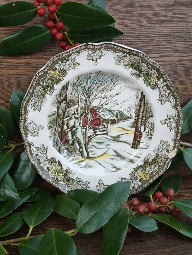 1950\'s Christmas Decorations/Dishes! -Friendly Village China ...