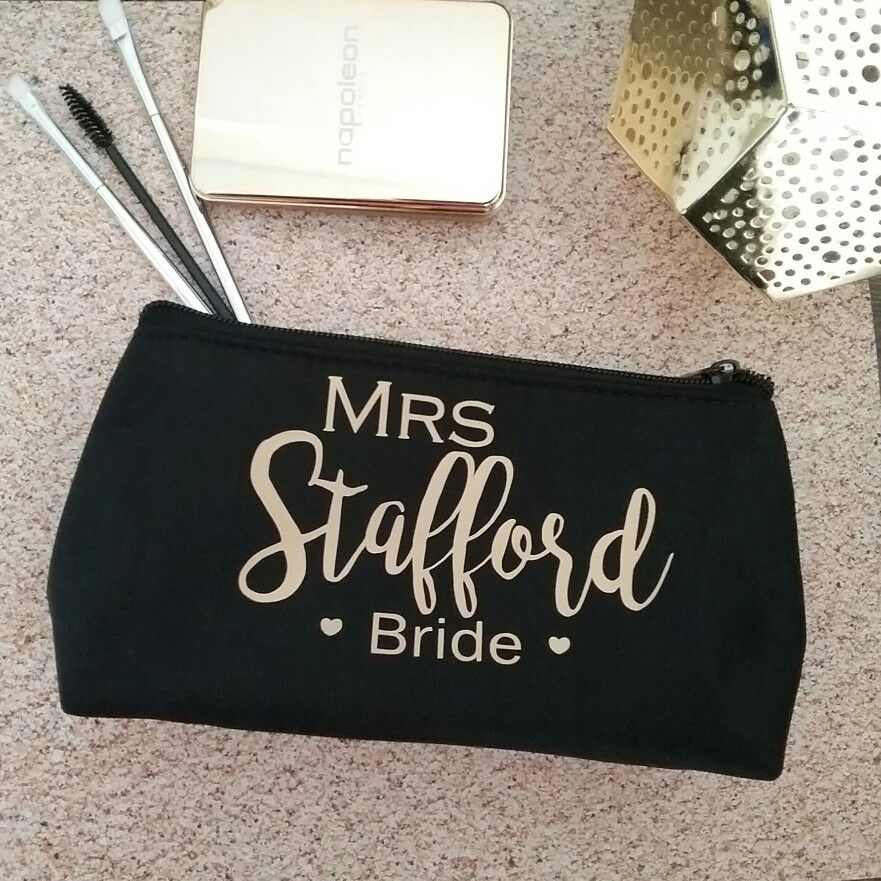 Personalised Wedding Bag Makeup Toiletry Gift For Bride