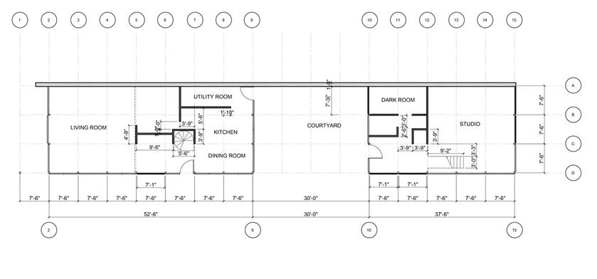 Eames House Dimensions