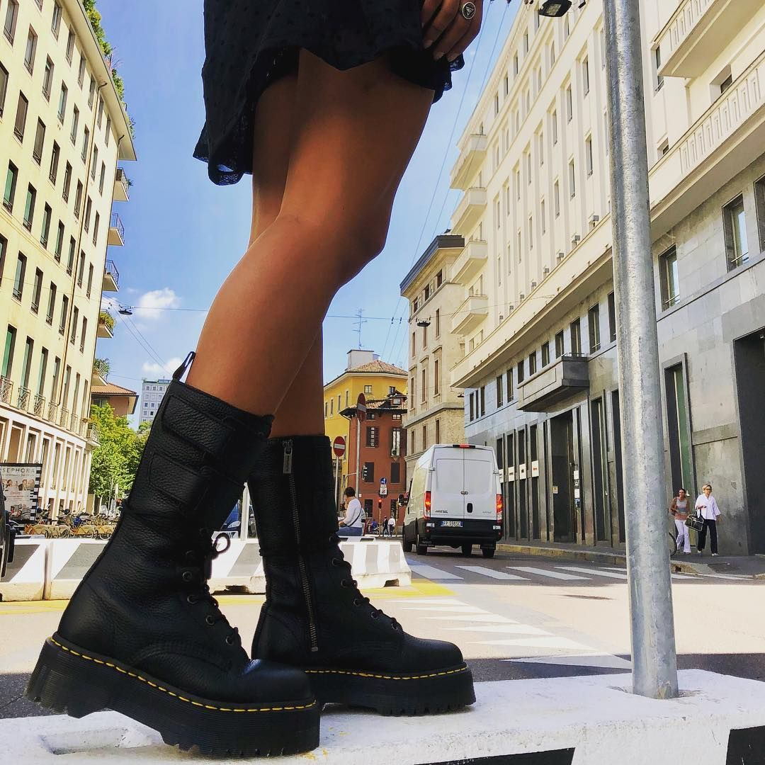 Dr Martens Inspired Boots, Women's Fashion, Shoes, Boots on