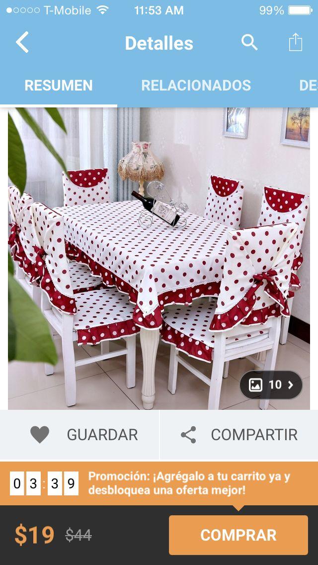 Pin von Claudia Ferreira auf cortinas almohadones manteles ropa de ...