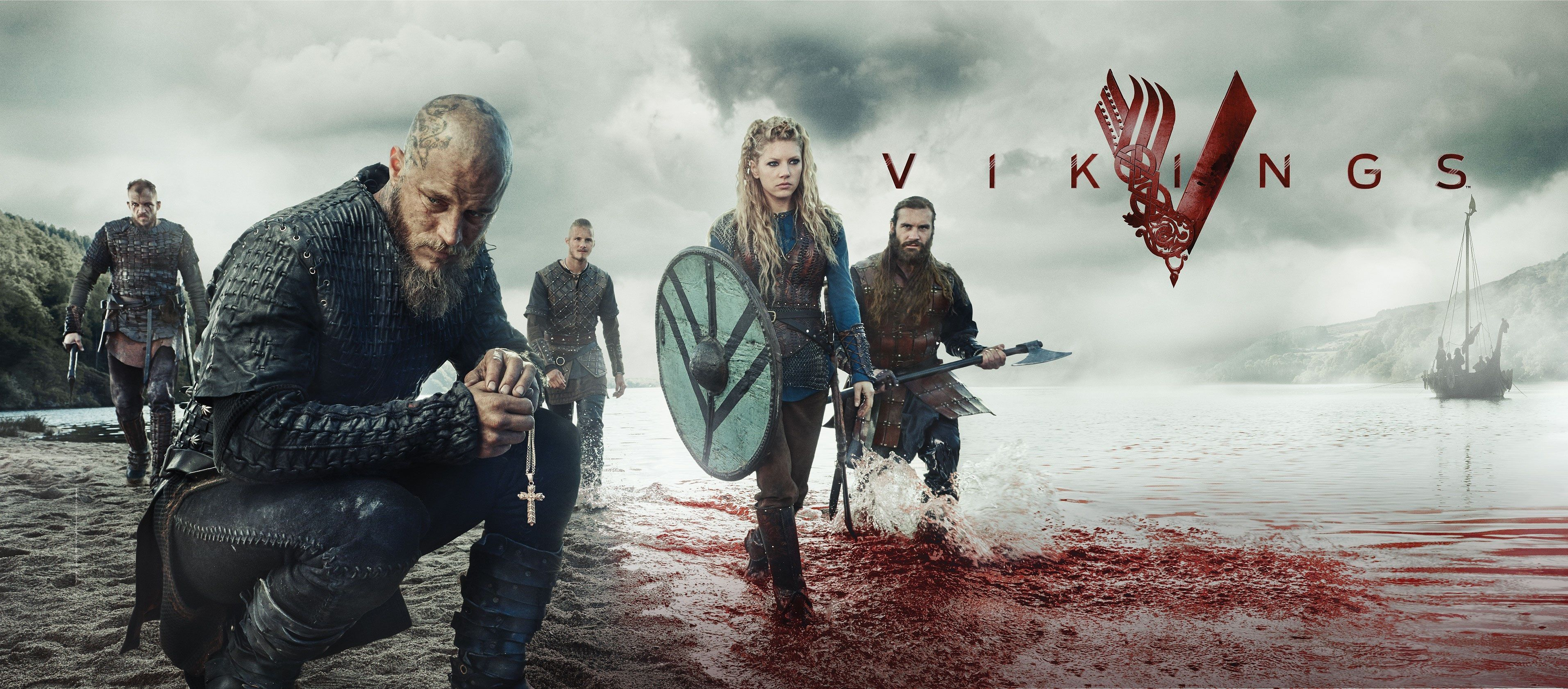 3826x1683 Vikings 4k Most Popular Wallpaper For Desktop Vikings Season Vikings Tv Show Vikings Tv