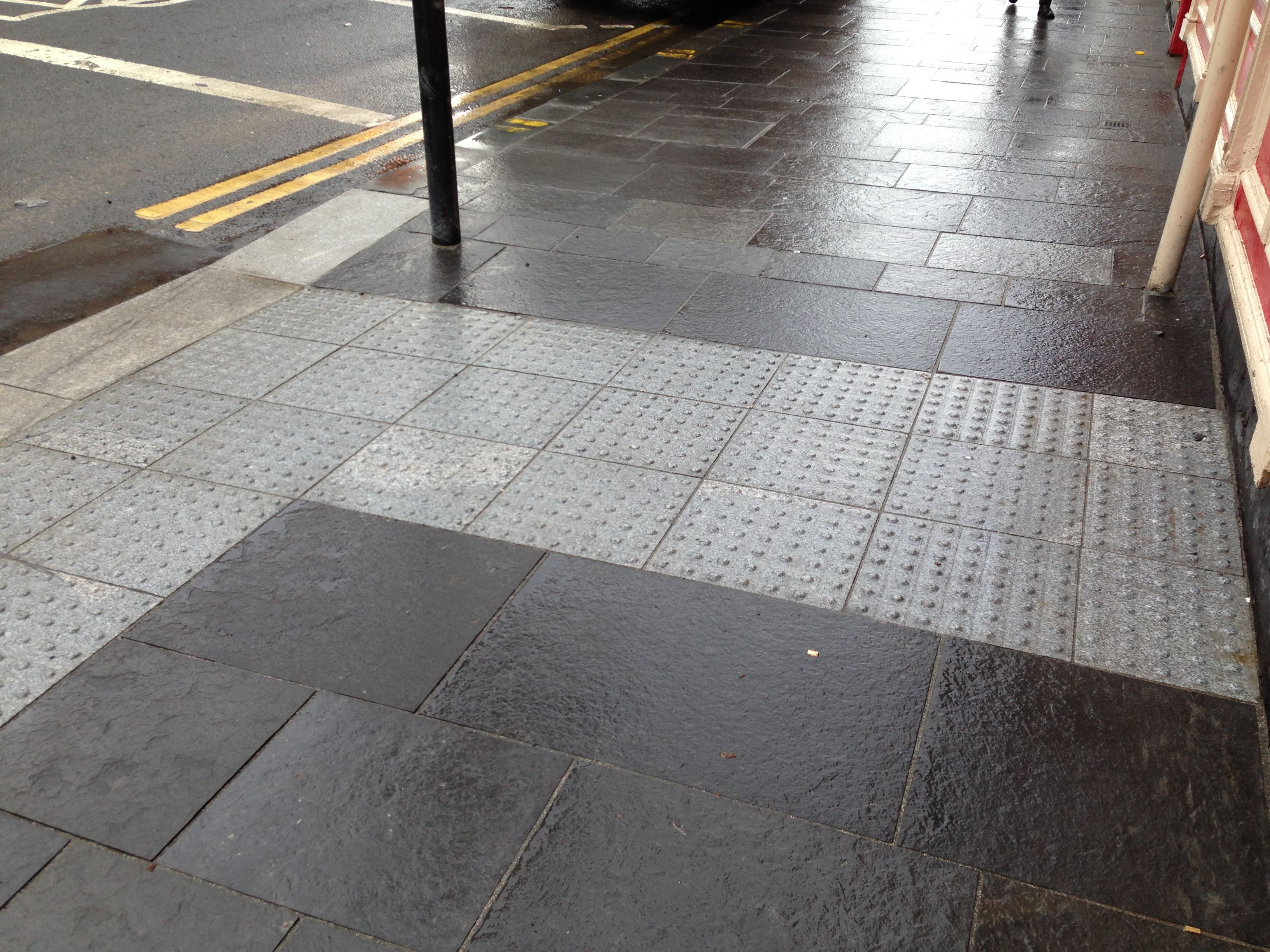 The 25 best tactile paving ideas on pinterest floor patterns silver grey chinese granite blistered tactile paving units surround by caithness flagstone dailygadgetfo Image collections
