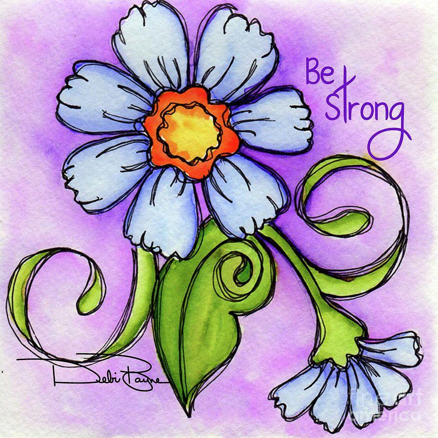 Periwinkle Flower Painting by Debi Payne | Drawings,Silhouettes ...