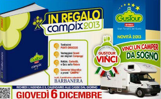 Agenda Campix In Omaggio Da CONAD Solo Il 6 Dicembre