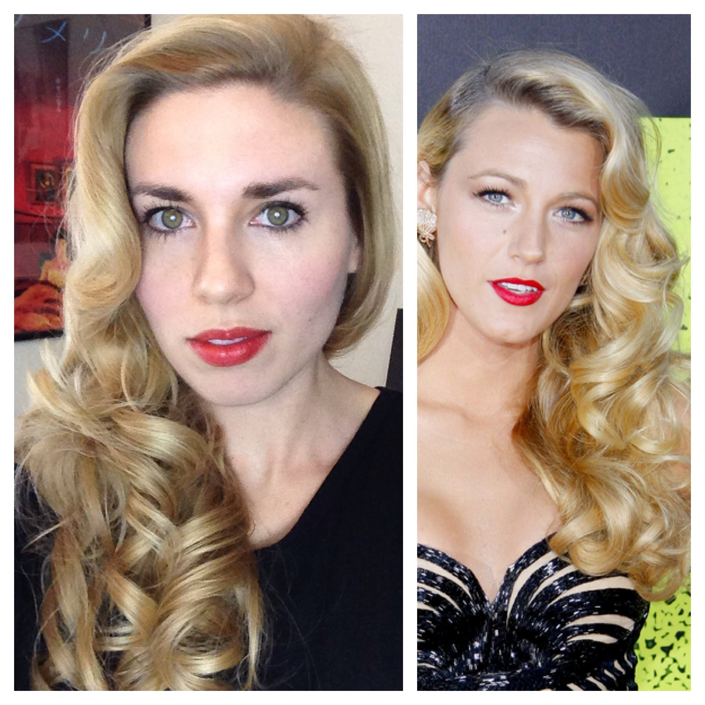 blake lively retro curls - vintage old hollywood glamour