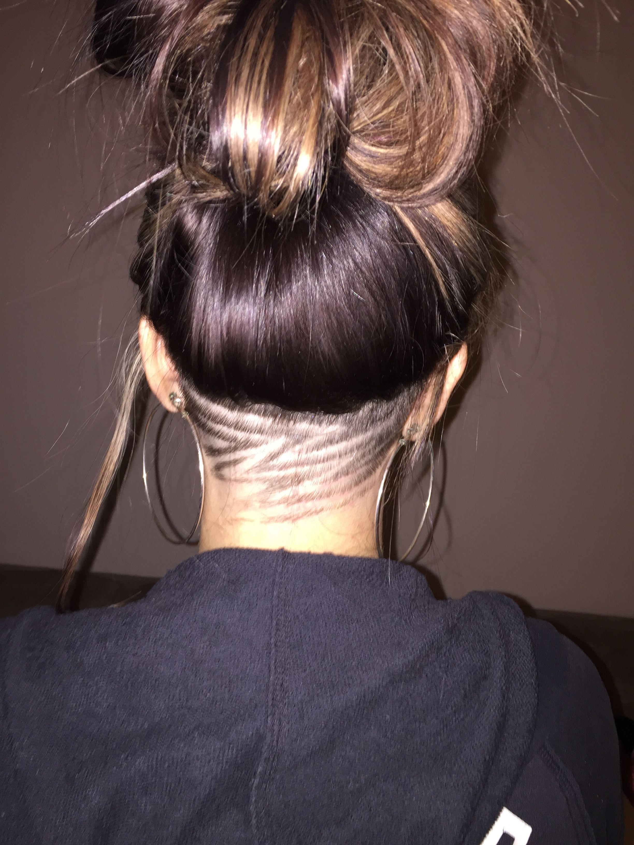 undercut design hair under
