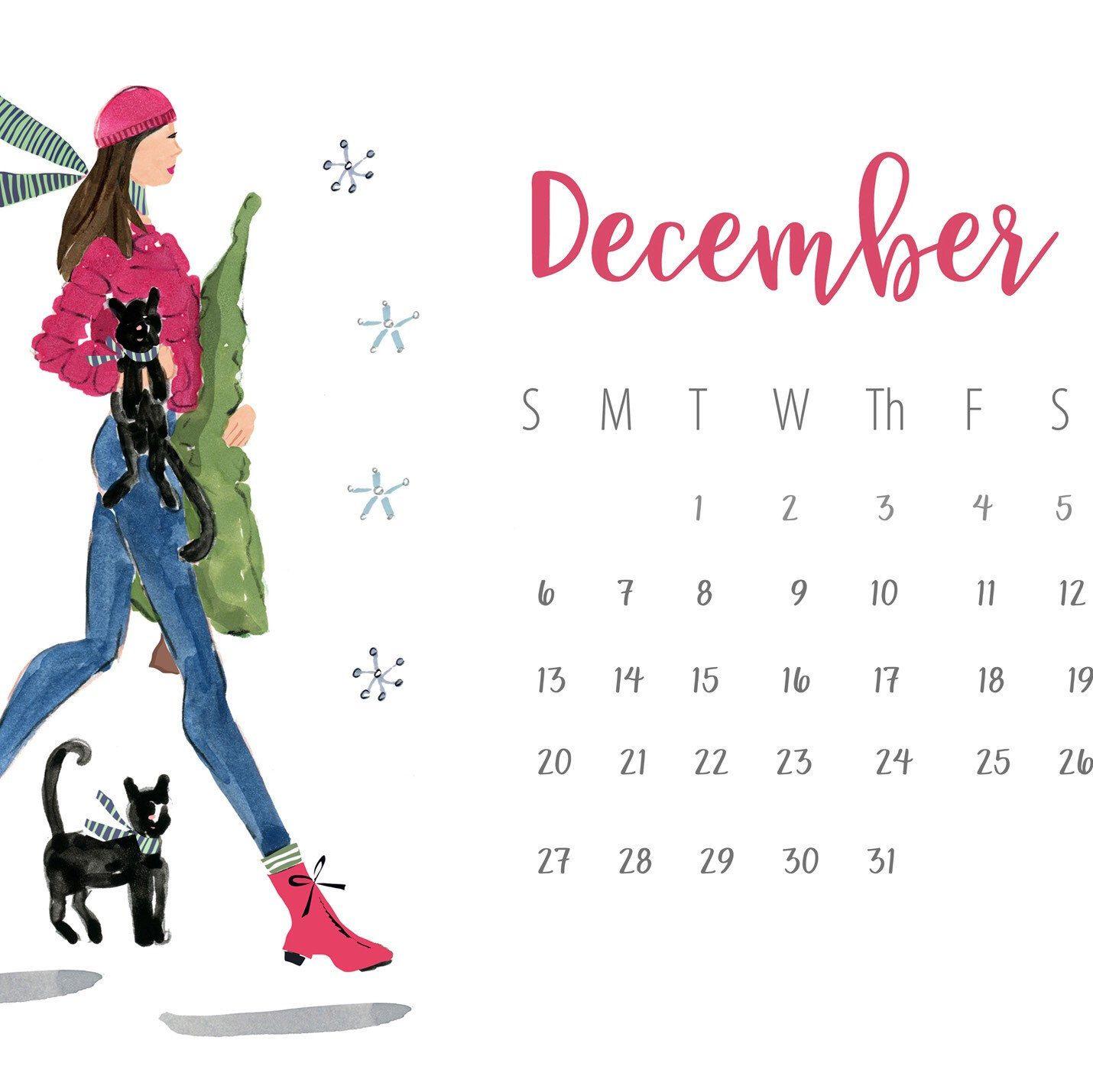 From My 2020 Cat Ladies Calendar Order Now Before The December Rush Illustration Calendar Christmas Illustration Dog Decor