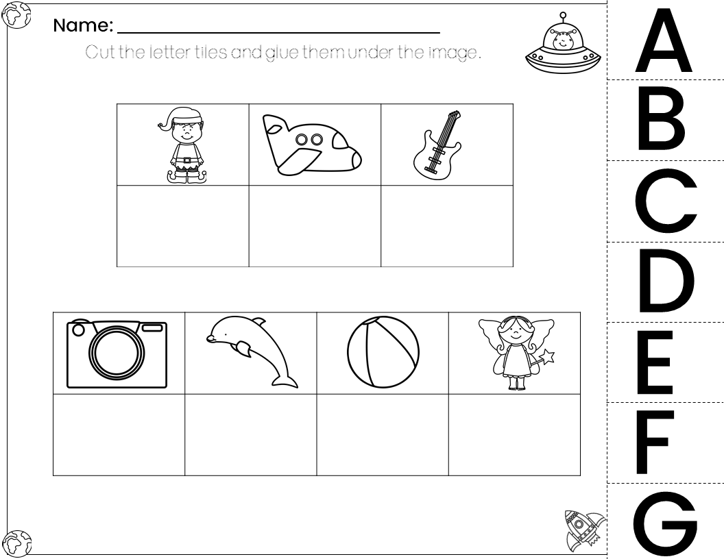 Beginning Sounds Worksheets And Matching Game
