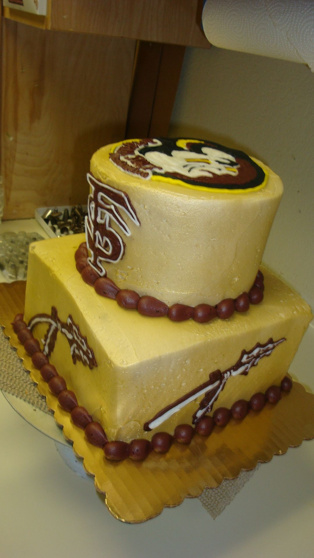 florida state university renegade and chief osceola on the field florida state seminoles cake fsu seminoles