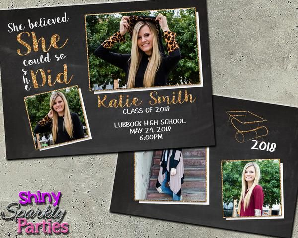 Graduation Announcement for a Girl Party Planning Pinterest
