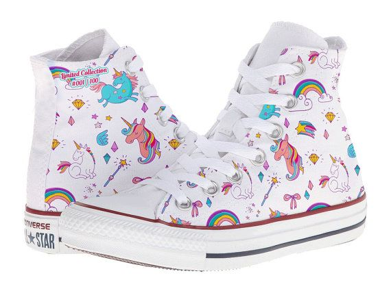 Custom Unicorn Fantasy Rainbow Diamond Princess Converse Shoes Chuck  Taylors Cute Sexy 29544df58
