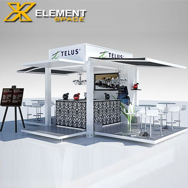 Source Hydraulic system 10ft container coffee shop design/ POP-UP shipping container coffee bar for sale on m.alibaba.com