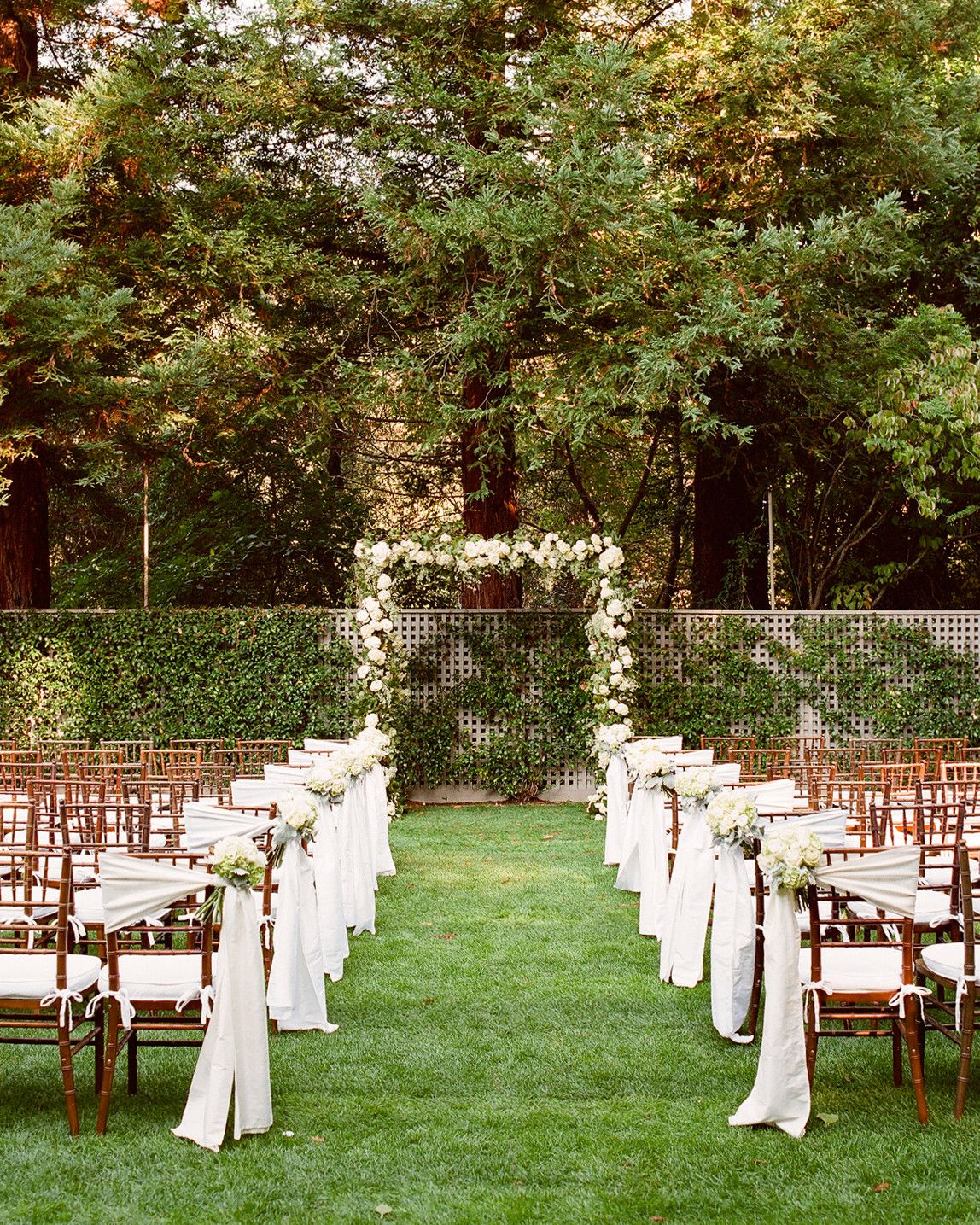 Ceremony Seating Reception: A Formal Outdoor Destination Wedding In Napa, California