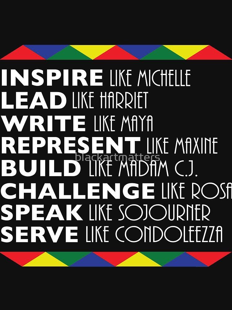 Photo of 'Inspire Like Michelle Black History Month Women Leaders' T-Shirt by blackartmatters