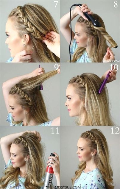 15 Party-Frisuren mit Zopf und Tutorial – Pingalaxy #headbandhairstyles – Boda fotos