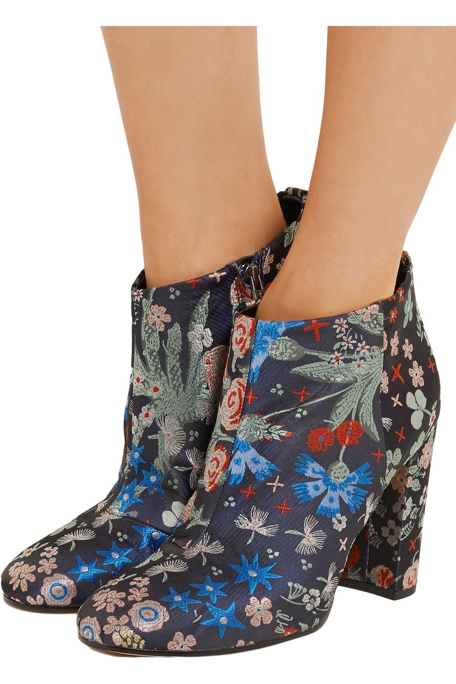 a85b7fd7ff787 Shop on-sale Sam Edelman Cambell floral-brocade ankle boots. Browse other  discount designer Boots   more on The Most Fashionable Fashion Outlet