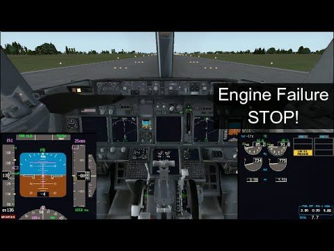 FSX] PMDG 737NGX Engine Failure Rejected Takeoff Tutorial by a B737