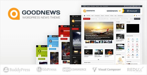 Goodnews – Magazine Responsive Wordpress Theme   Free website ...