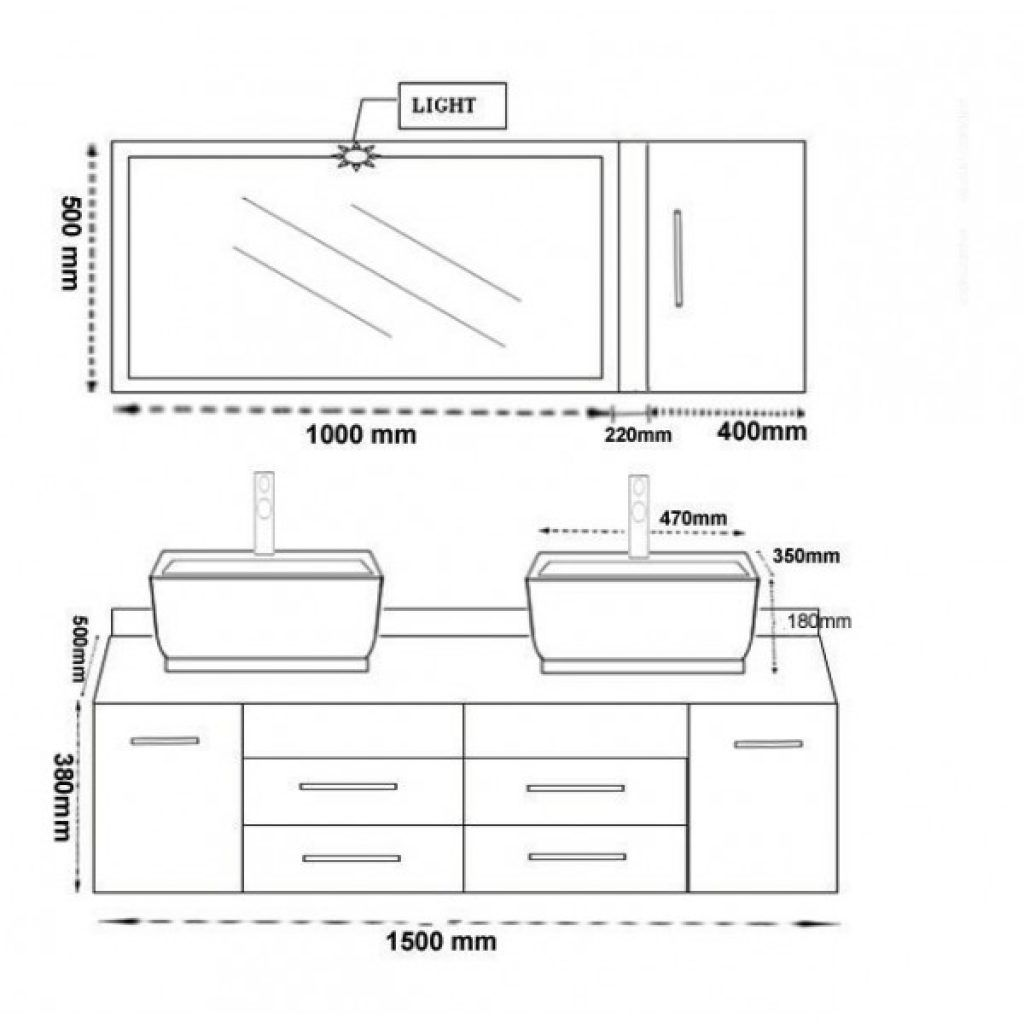Gnial Dimension Meuble Double Vasque Salle De Bain 36 Sur ...