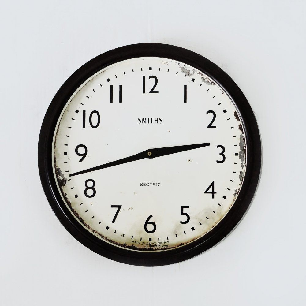 For Sale Smiths Sectric Converted Quartz Bakelite Wall Clock 1930s Vntg Vintage In 2020 Wall Clock Clock Will Smith