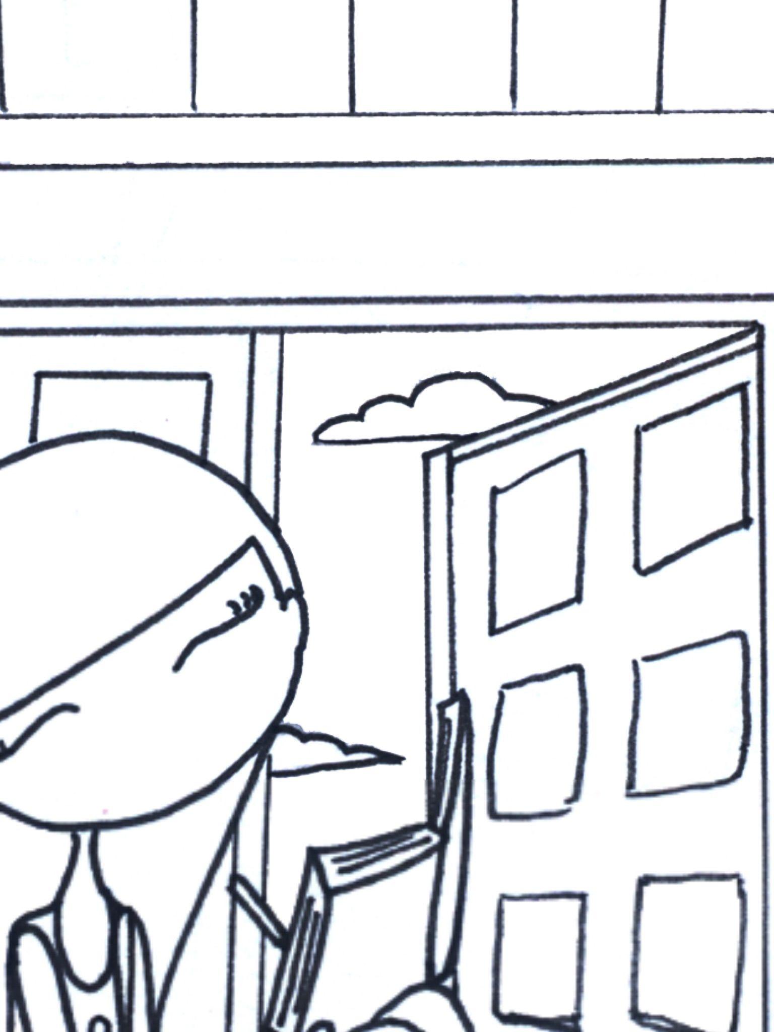 Una pequeña muestra de la ilustración La buhardilla, de Blanitas. La ...