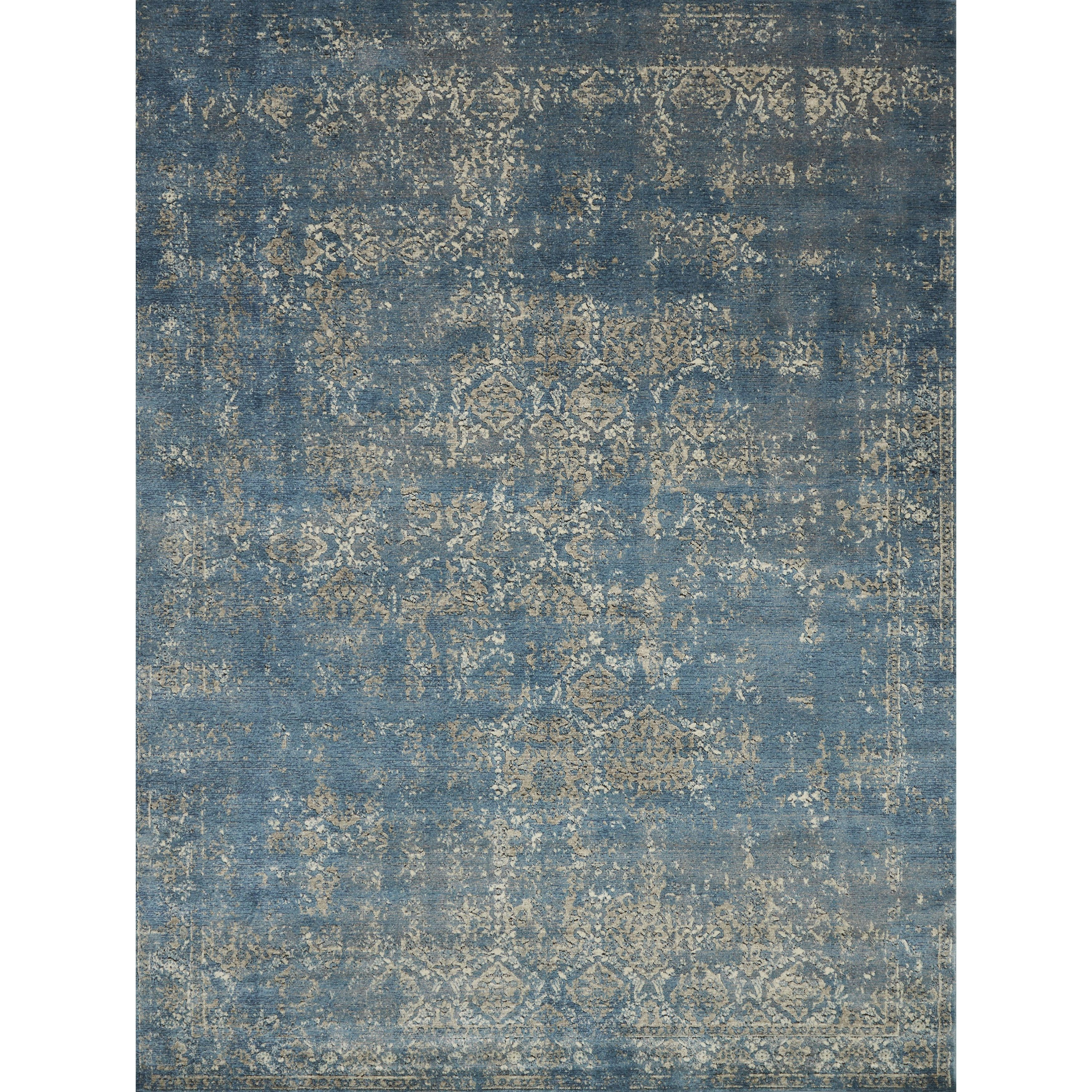 alexander home antique inspired vintage blue taupe distressed rug