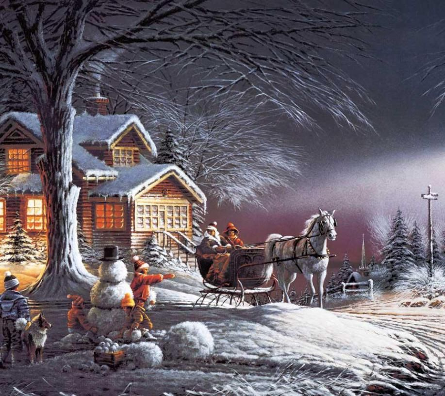 CHRISTMAS SNOW SCENE | Christmas scenes, Snow scenes and Snow