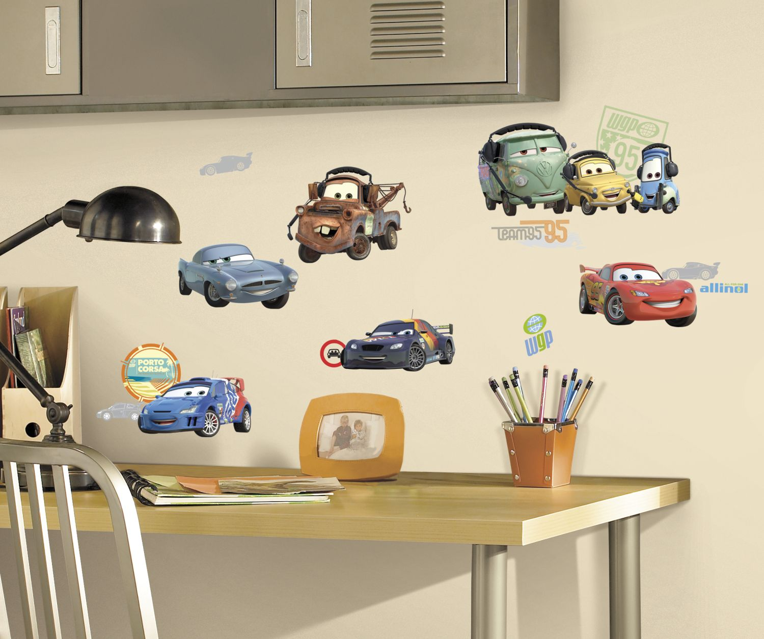Cars 2 Wall Stickers By Dinsey Disney Wall Decals Wall Decor Stickers Wall Decals [ 1254 x 1500 Pixel ]