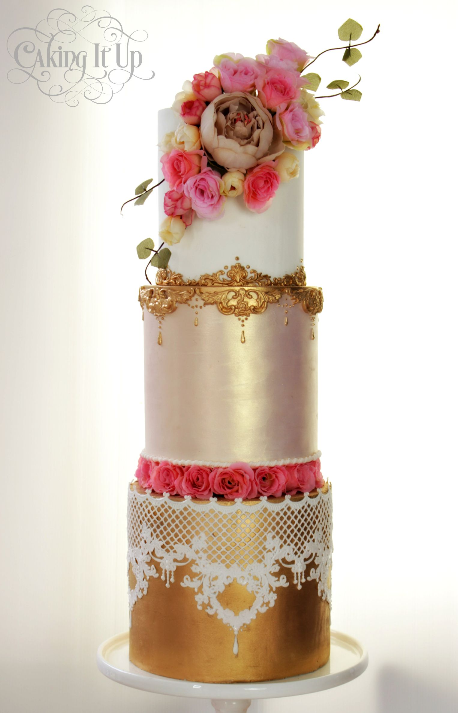 Pretty and elegant french high tea cake by Caking It Up