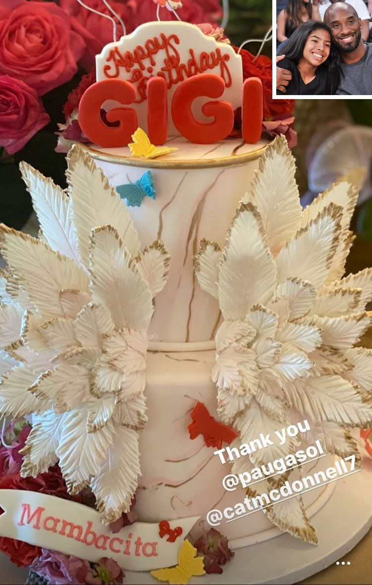 Vanessa Bryant Receives Birthday Cake for Late Daughter