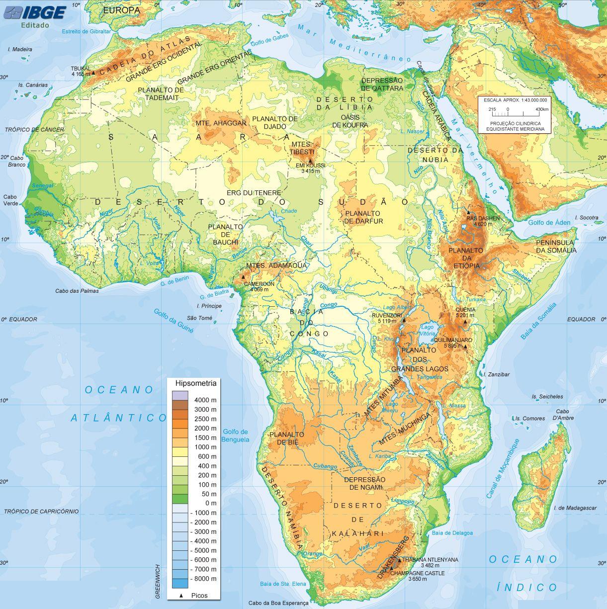 Mapa Fisico Africa Mapa Fisico Mapas