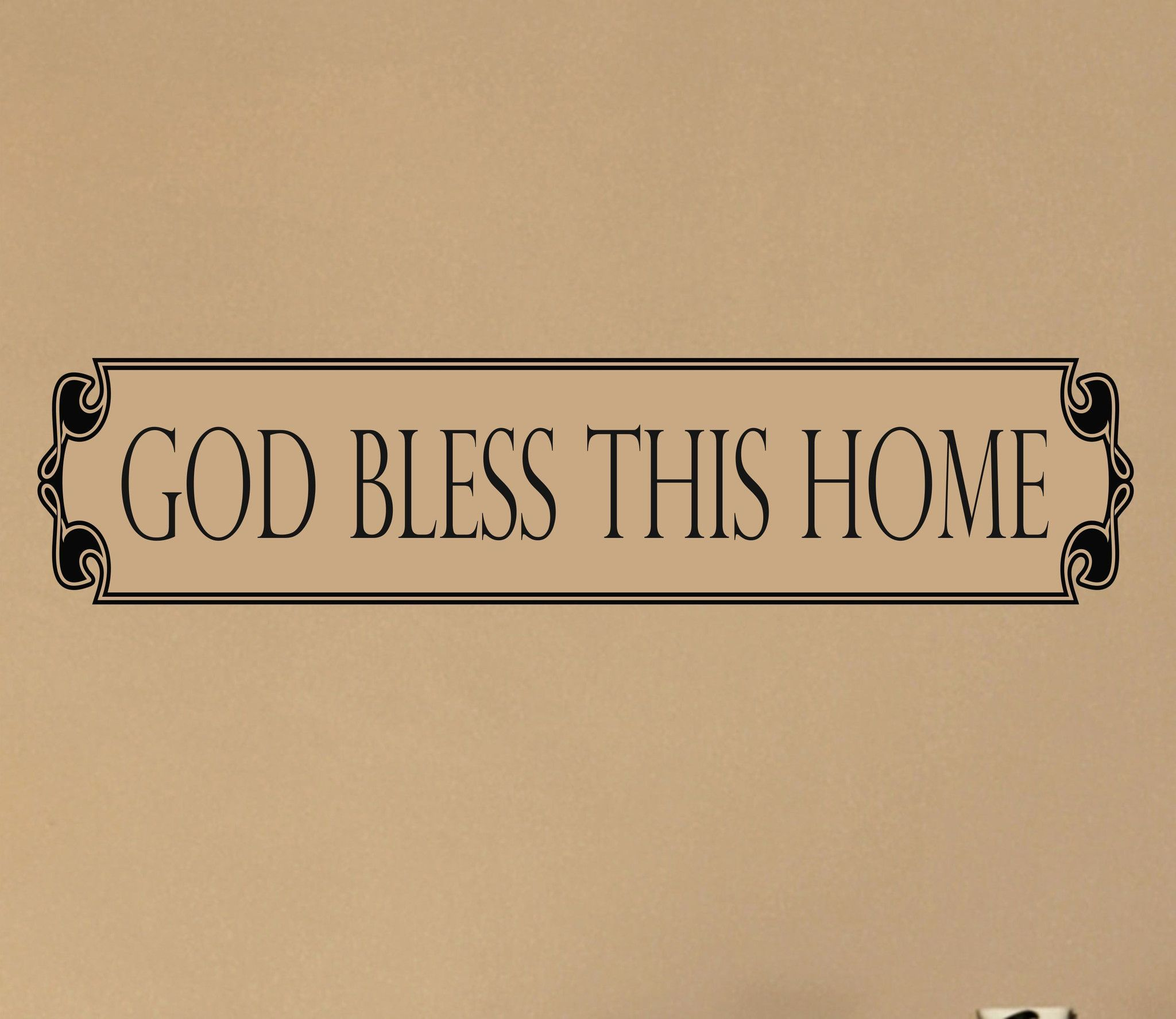 Such a beautiful design!. Our God Bless This Home decal is the ...