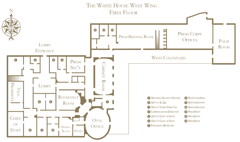 White House West Wing Floor Plan The White House