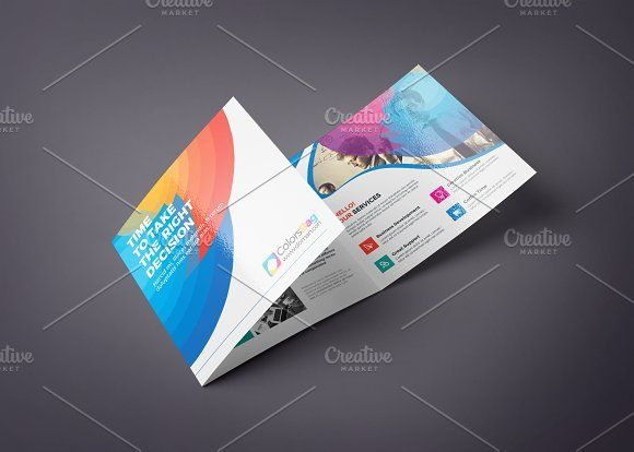 square tri fold brochure templates tri fold colorful brochure multipurpose design is very easy to use and change textcolorsize by cristal pioneer