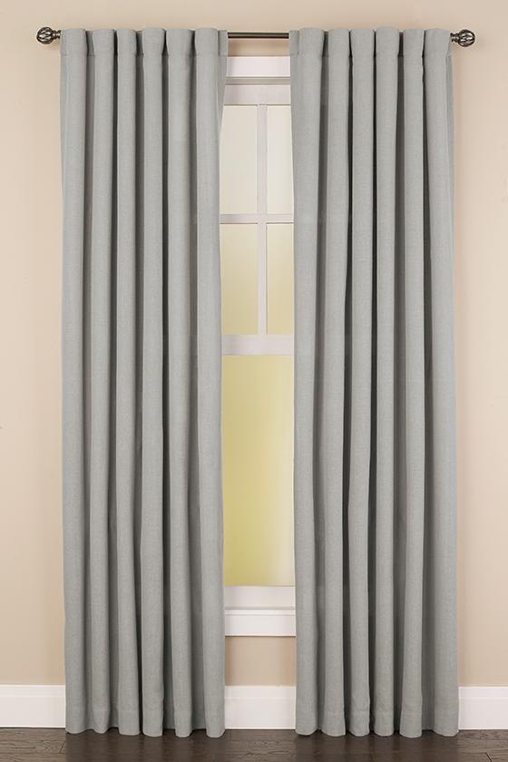 Faux Linen Back Tab Curtain Panel Curtains Panel Curtains Decor
