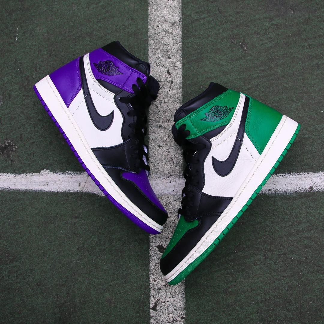 OG. The Air Jordan 1 Retro Pine Green and Court Purple drop ...