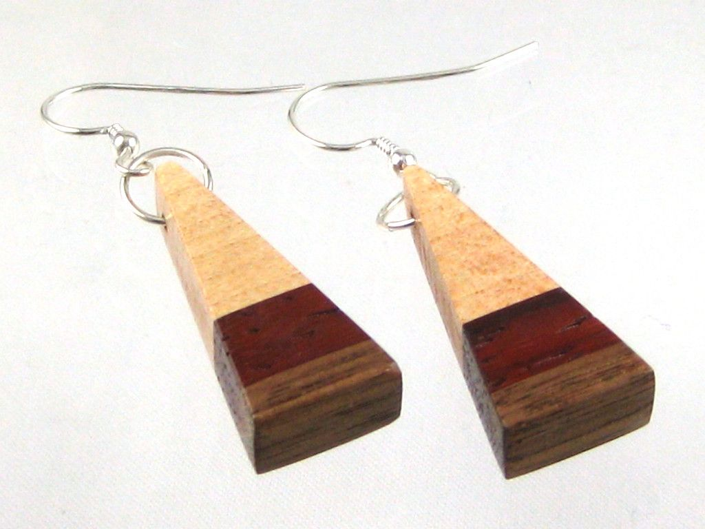 daf58d7e7fec2a Unique Handmade Earrings in Maple, Wenge, Mahogany | Wood You Wear - Sold  Items | Earrings handmade, Earrings, Handmade
