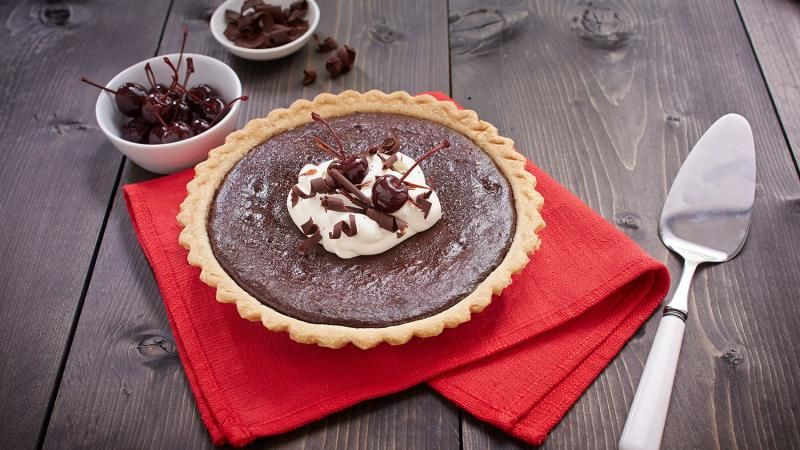 Black Forest Pie Tenderflake Sweet Recipes Chocolate Treats Pie