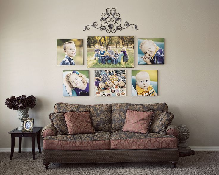 image result for how to display family canvases in living on family picture wall ideas for living room furniture arrangements id=83576