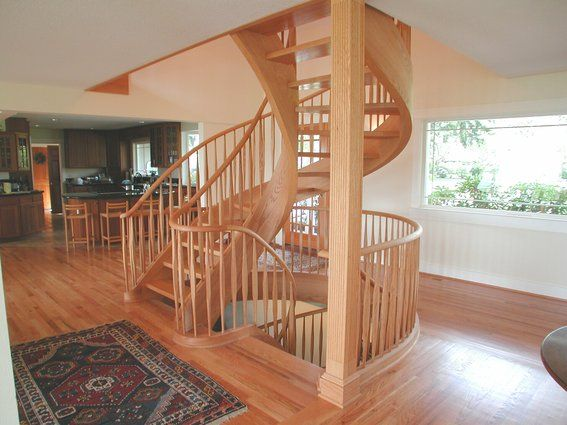 Lovely Story Tight Spiral Stair By Master Woodworks,