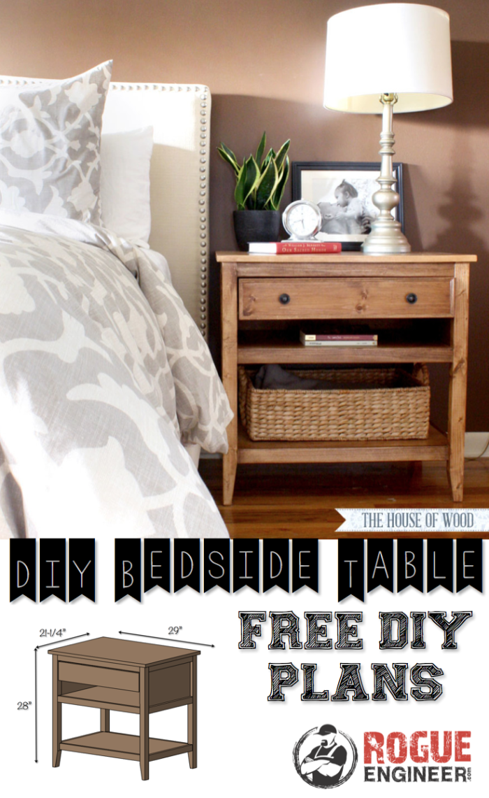 diy bedside table plans
