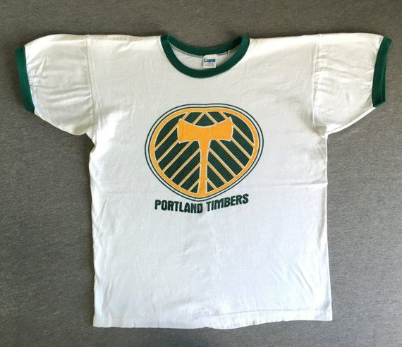 the best attitude eba58 8fed3 Portland Timbers Shirt 70's Vintage/ Champion Blue Bar Water ...