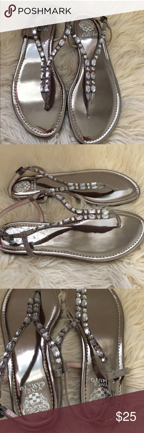 NEW Vince Camuto Silver Macha Embellished Sandals NEW Vince Camuto Silver Macha Embellished Sandals. Size 11. Gorgeous shoes & easy to style! Thank you for looking at my listing. Please feel free to comment with any questions (no trades/modeling).  •Condition: BNWOT  ✨Bundle and save!✨10% off 2 items, 20% off 3 items & 30% off 5+ items! C1 Vince Camuto Shoes Sandals