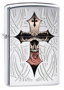 Zippo - Skull Cross